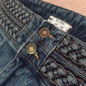 Free People Braided Skinny Jeans